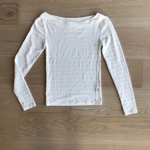 We The Free White Long Sleeve Eyelet Tee Top NWOT
